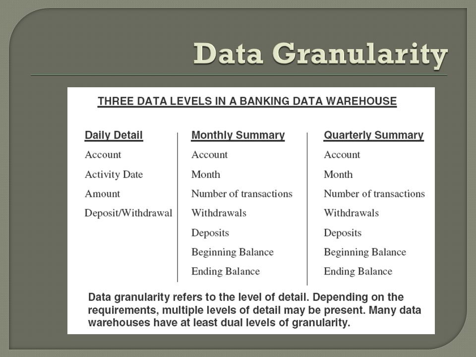 Data Granularity