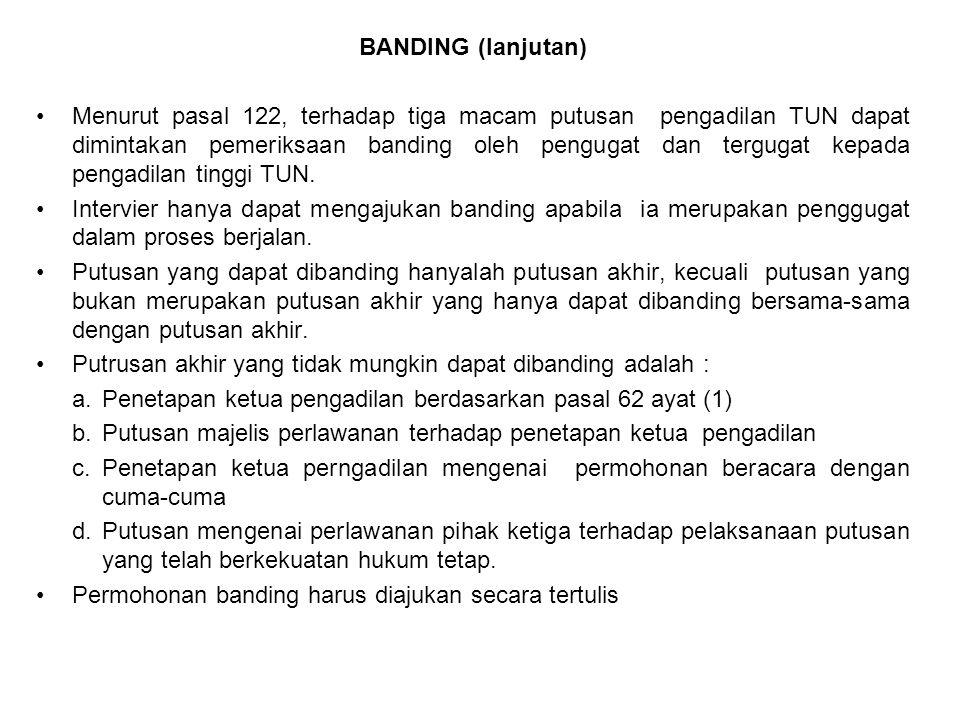 BANDING (lanjutan)