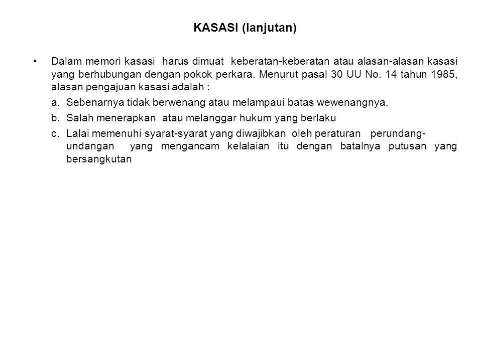 KASASI (lanjutan)