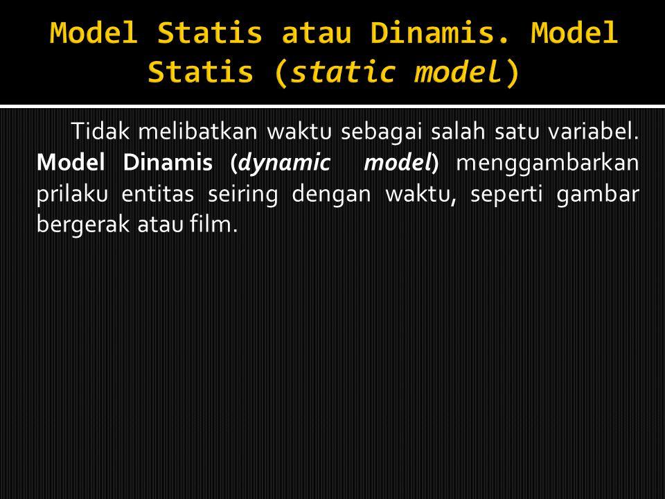 Model Statis atau Dinamis. Model Statis (static model)
