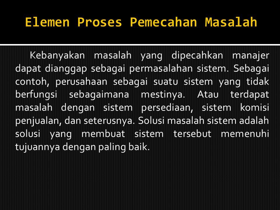 Elemen Proses Pemecahan Masalah