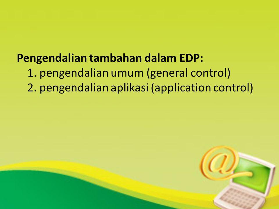 Pengendalian tambahan dalam EDP: 1