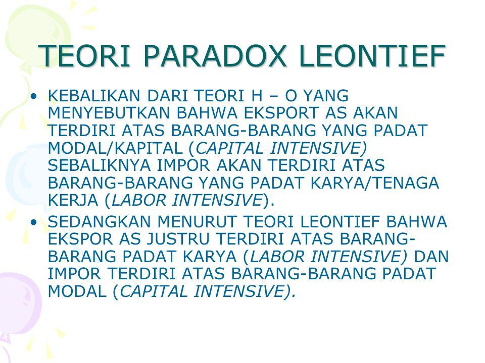 TEORI PARADOX LEONTIEF