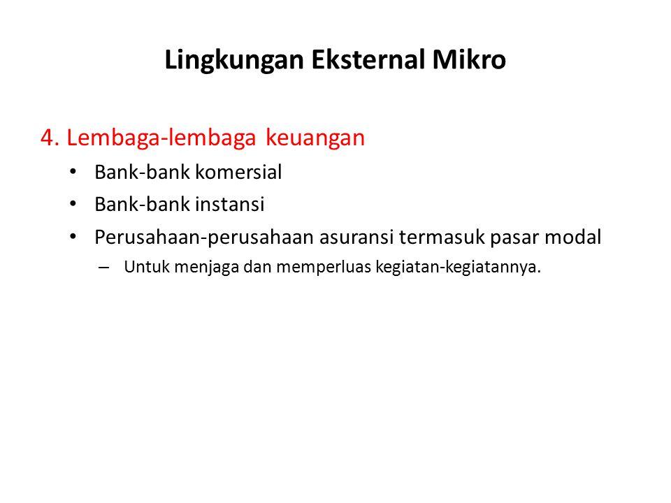 Lingkungan Eksternal Mikro