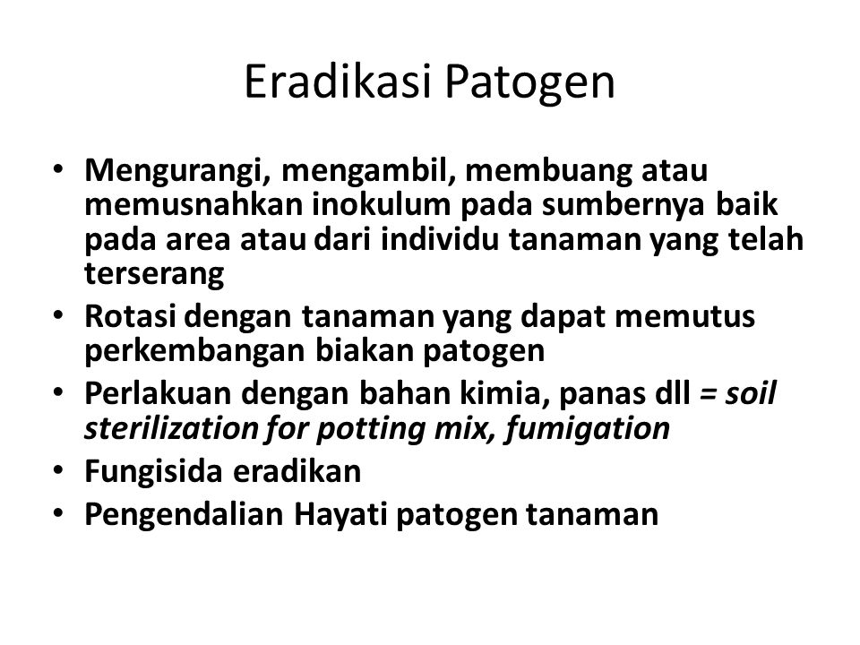 Eradikasi Patogen
