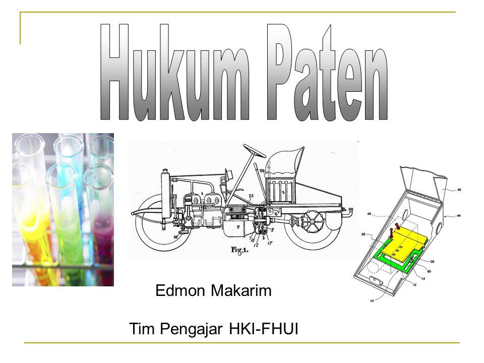 Hukum Paten Edmon Makarim Tim Pengajar HKI-FHUI