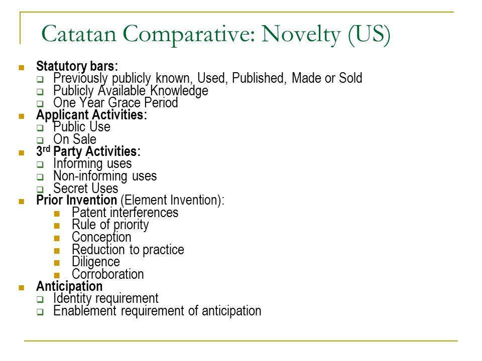 Catatan Comparative: Novelty (US)