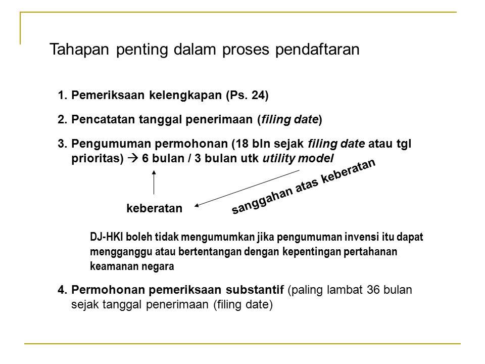 Tahapan penting dalam proses pendaftaran