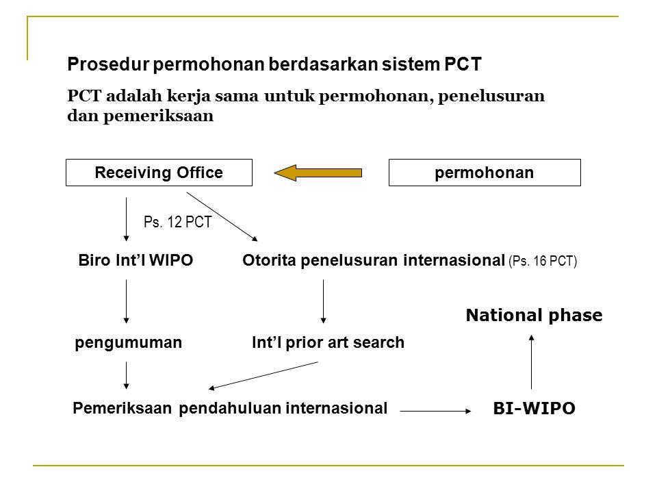 Prosedur permohonan berdasarkan sistem PCT
