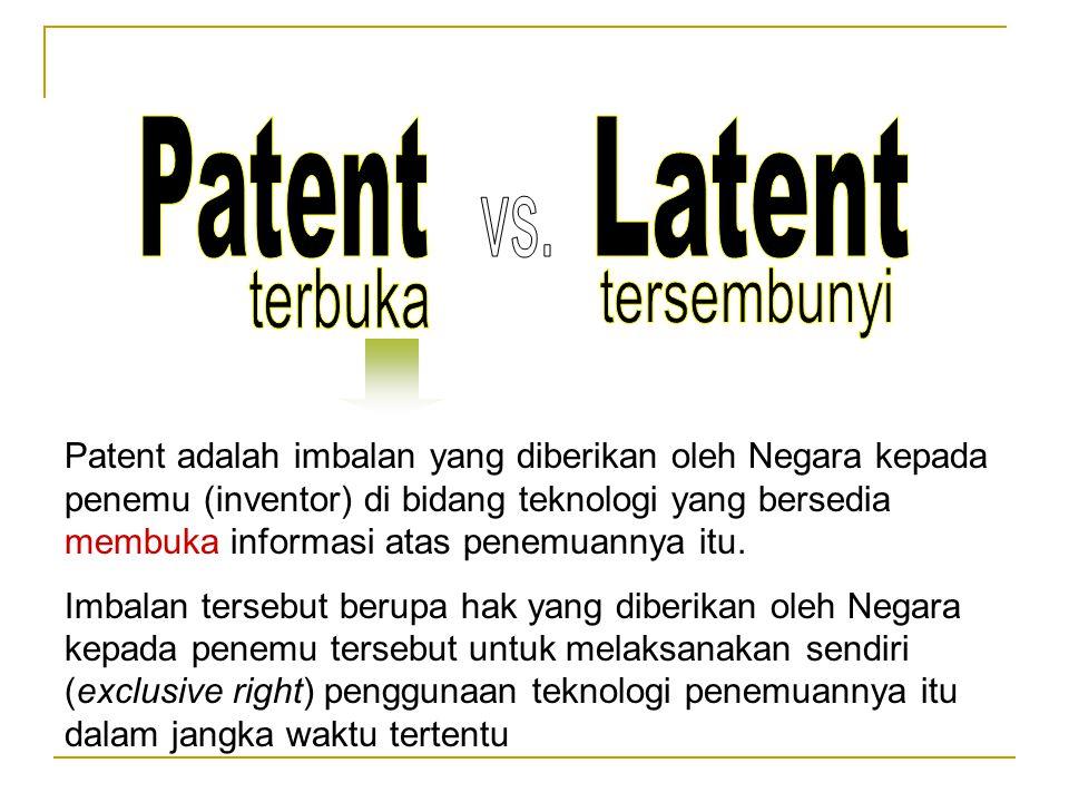 Patent Latent vs. terbuka tersembunyi