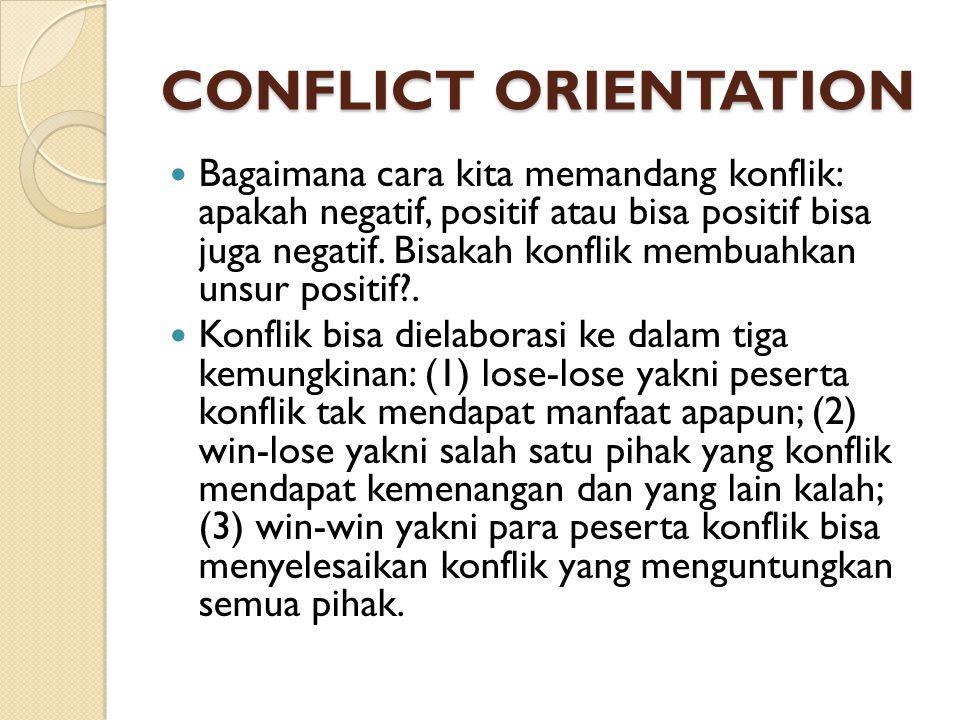 CONFLICT ORIENTATION