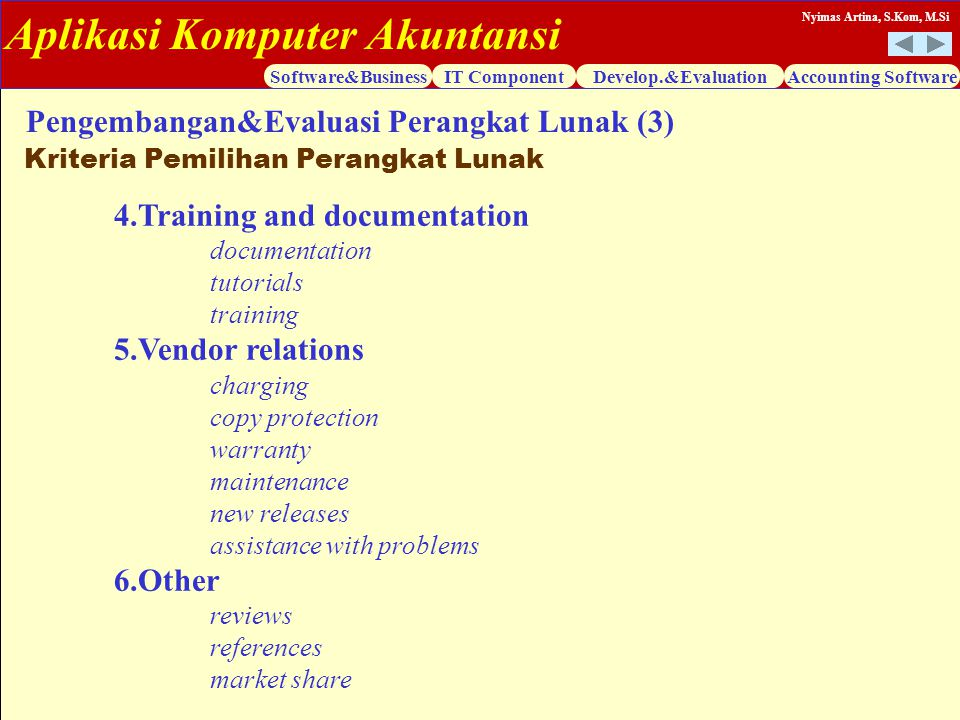 Pengembangan&Evaluasi Perangkat Lunak (3)