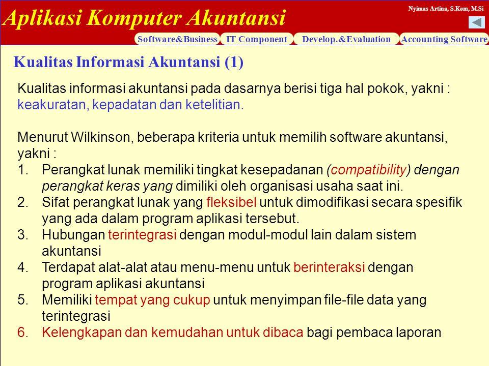 Kualitas Informasi Akuntansi (1)
