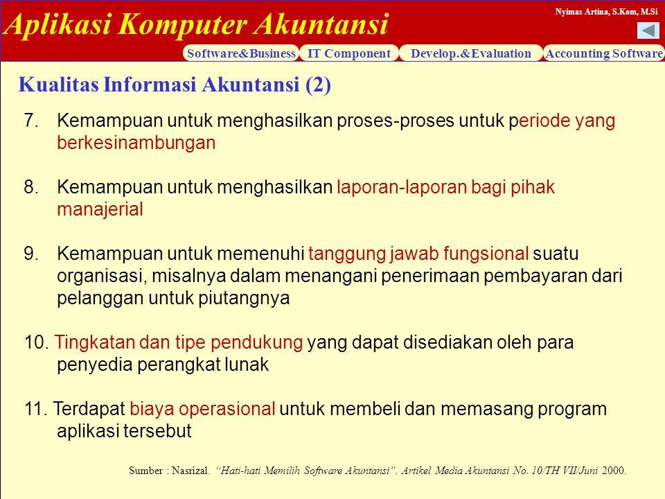 Kualitas Informasi Akuntansi (2)