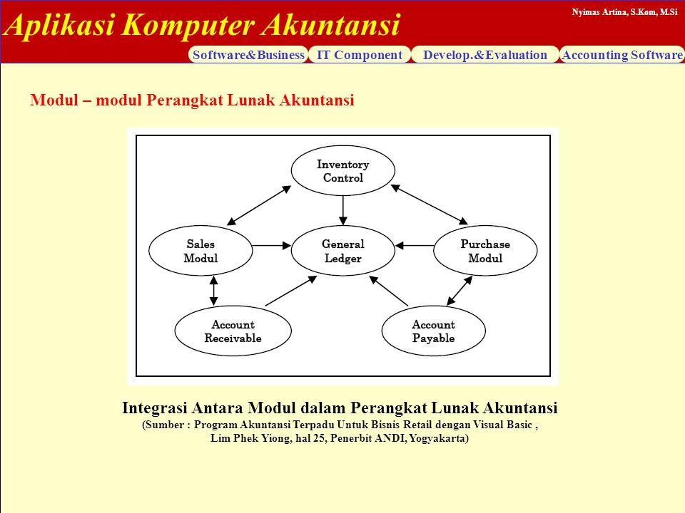 Integrasi Antara Modul dalam Perangkat Lunak Akuntansi