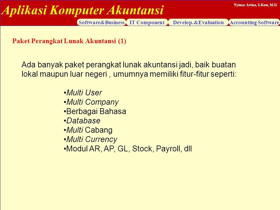 Modul AR, AP, GL, Stock, Payroll, dll