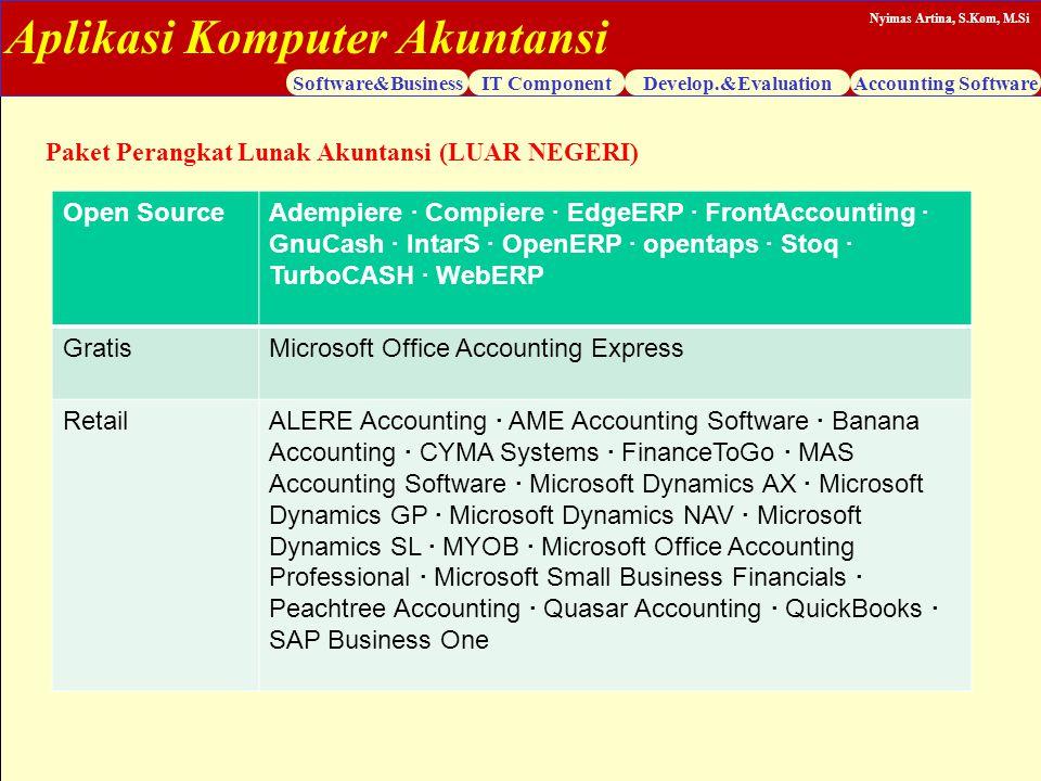 Paket Perangkat Lunak Akuntansi (LUAR NEGERI)