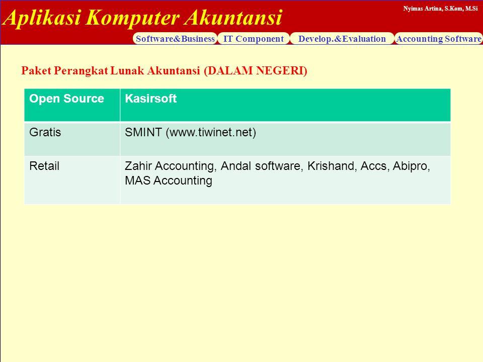 Paket Perangkat Lunak Akuntansi (DALAM NEGERI)
