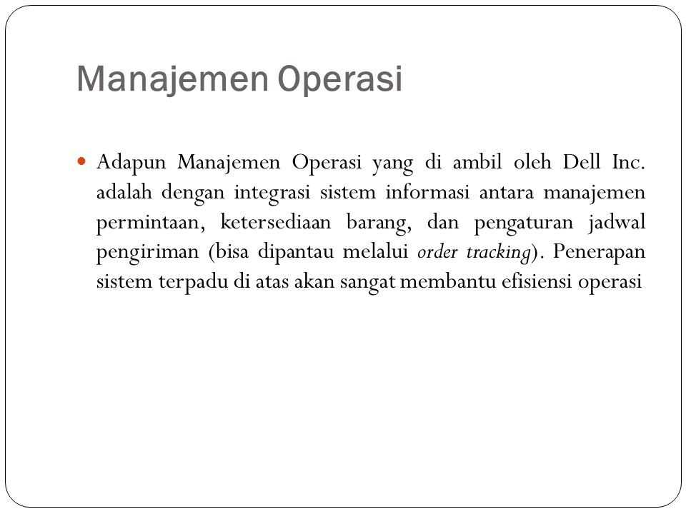 Manajemen Operasi
