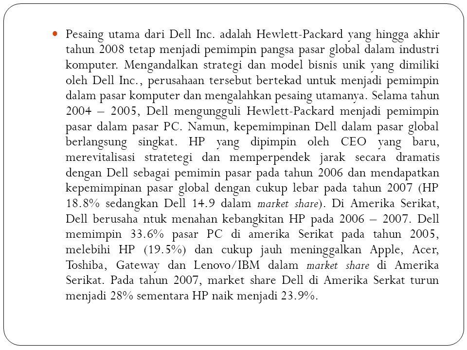 Pesaing utama dari Dell Inc