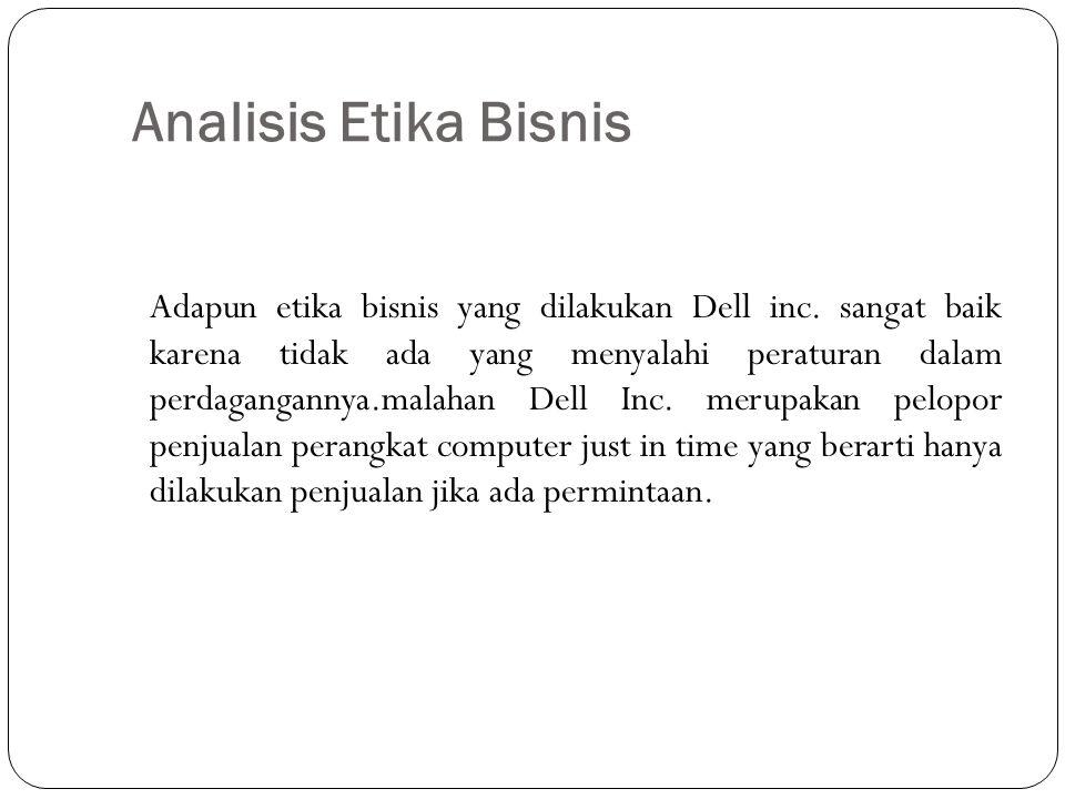 Analisis Etika Bisnis