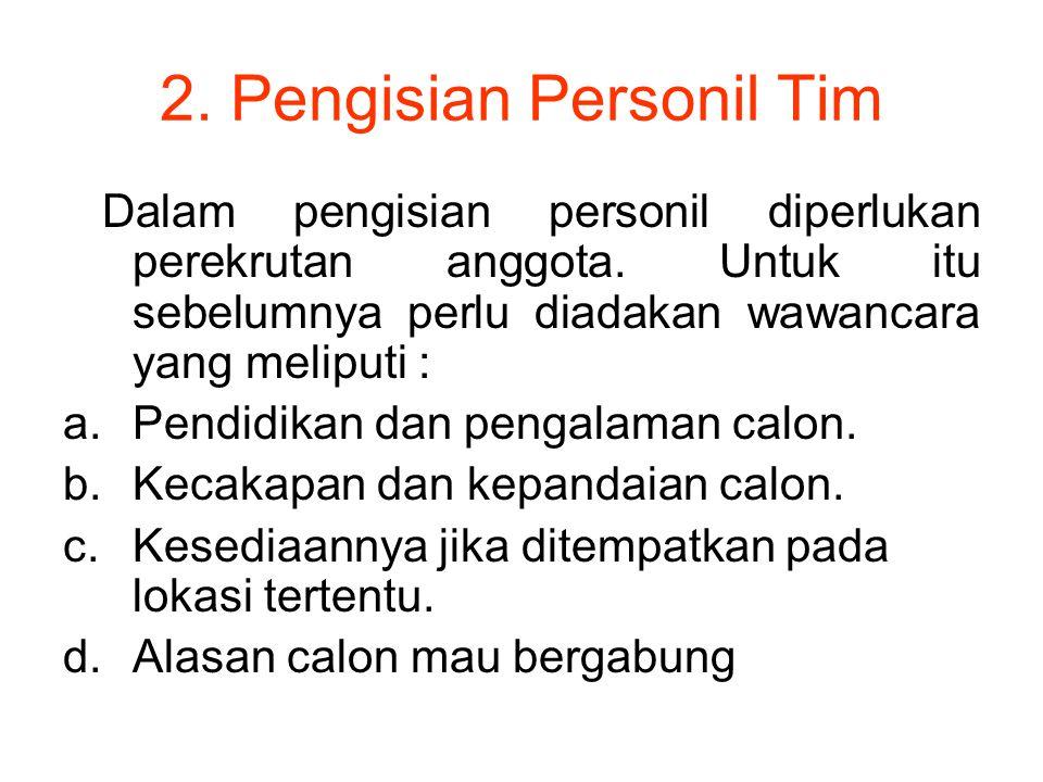 2. Pengisian Personil Tim