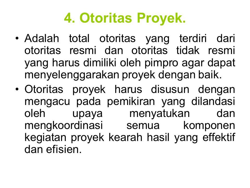 4. Otoritas Proyek.