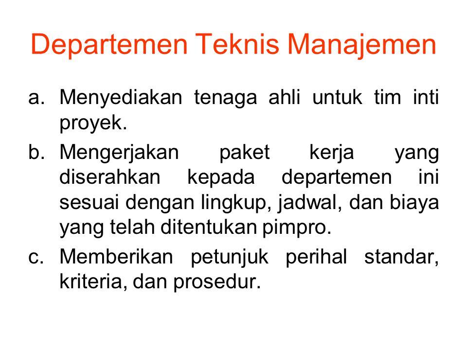 Departemen Teknis Manajemen