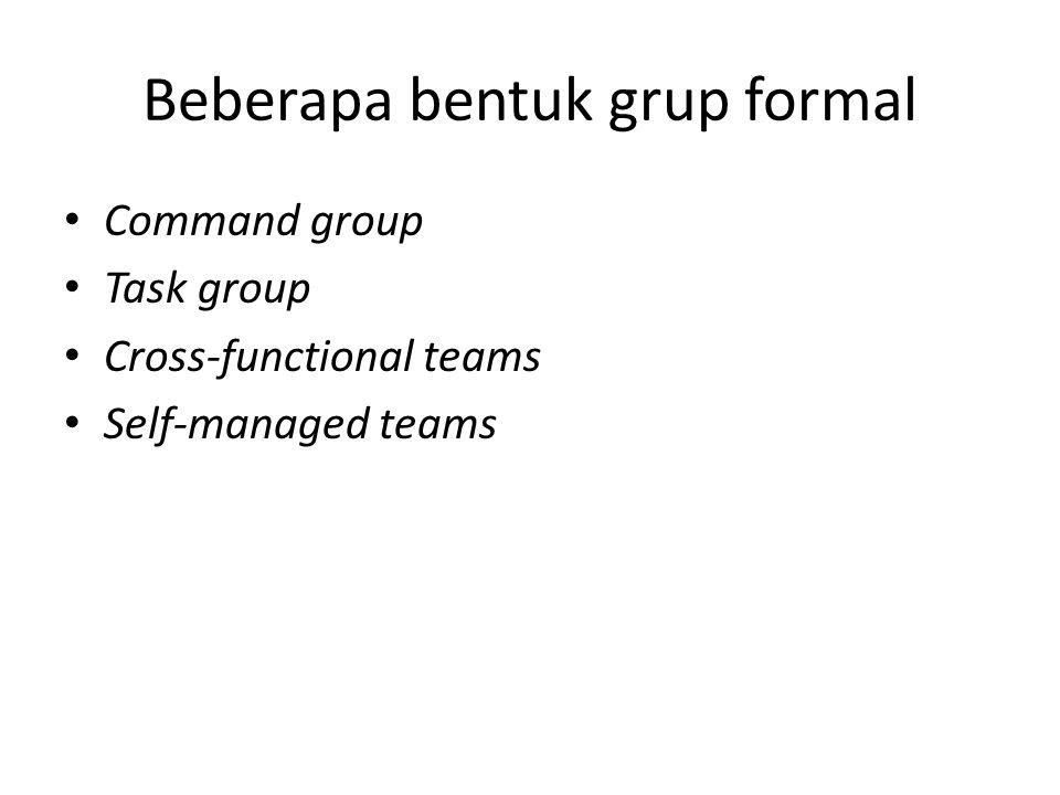 Beberapa bentuk grup formal