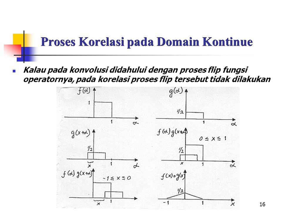 Proses Korelasi pada Domain Kontinue