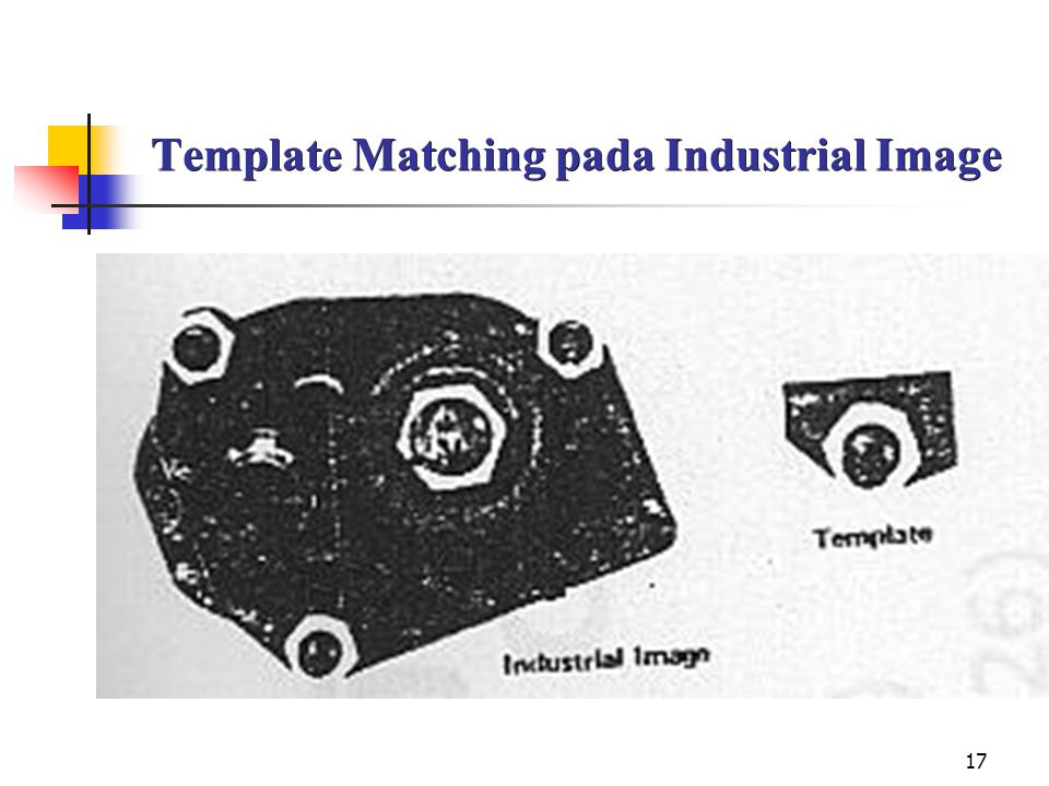 Template Matching pada Industrial Image