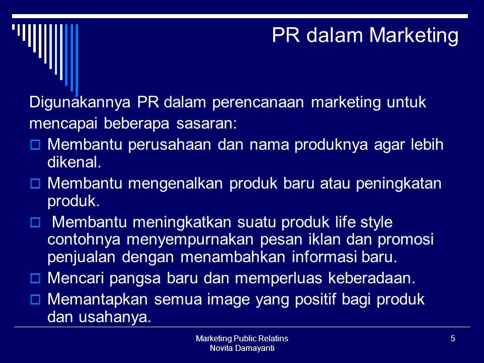 Marketing Public Relatins Novita Damayanti