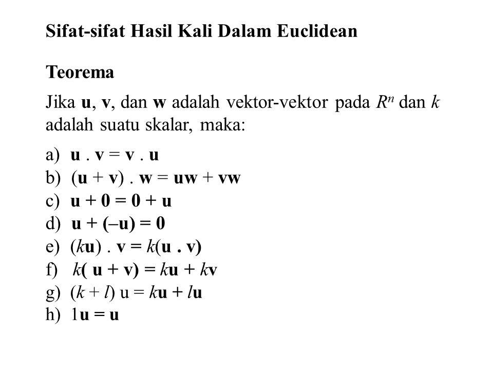 Sifat-sifat Hasil Kali Dalam Euclidean Teorema