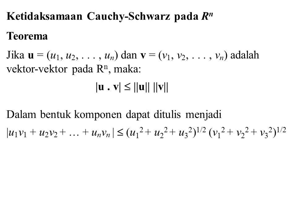 Ketidaksamaan Cauchy-Schwarz pada Rn Teorema