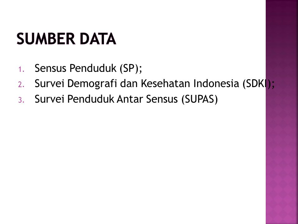 Sumber Data Sensus Penduduk (SP);