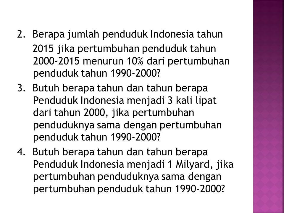 2. Berapa jumlah penduduk Indonesia tahun
