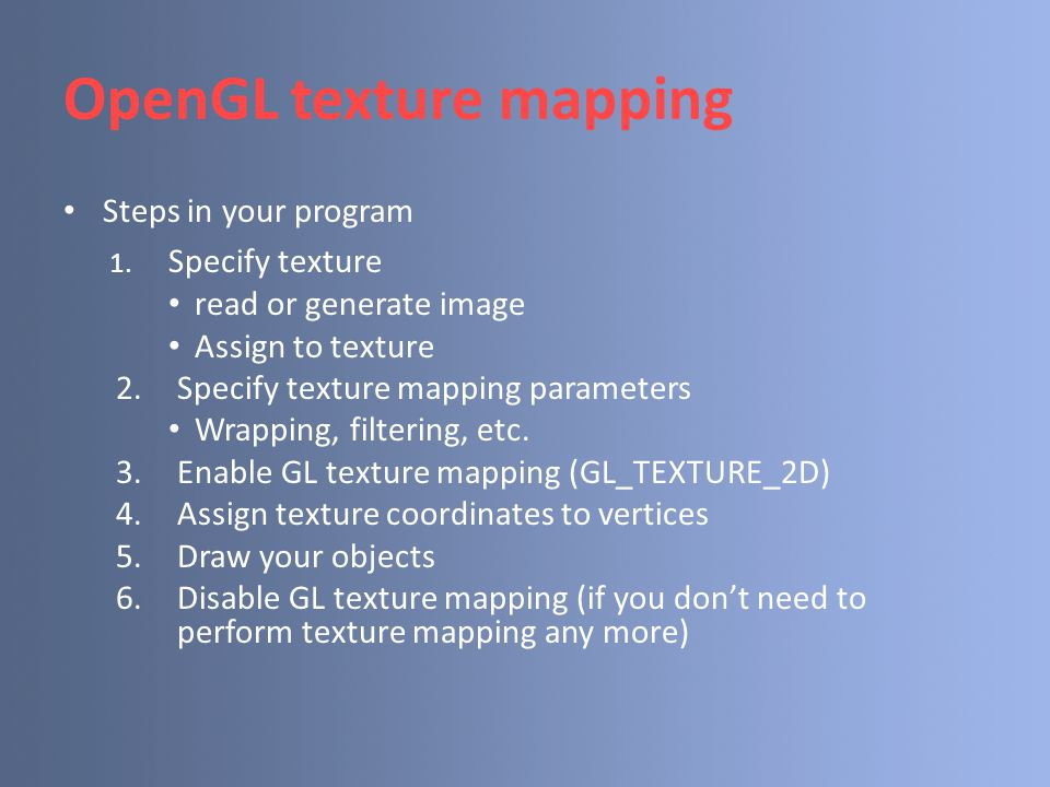 OpenGL texture mapping