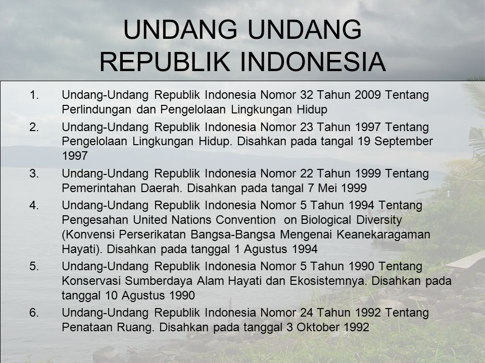 UNDANG UNDANG REPUBLIK INDONESIA