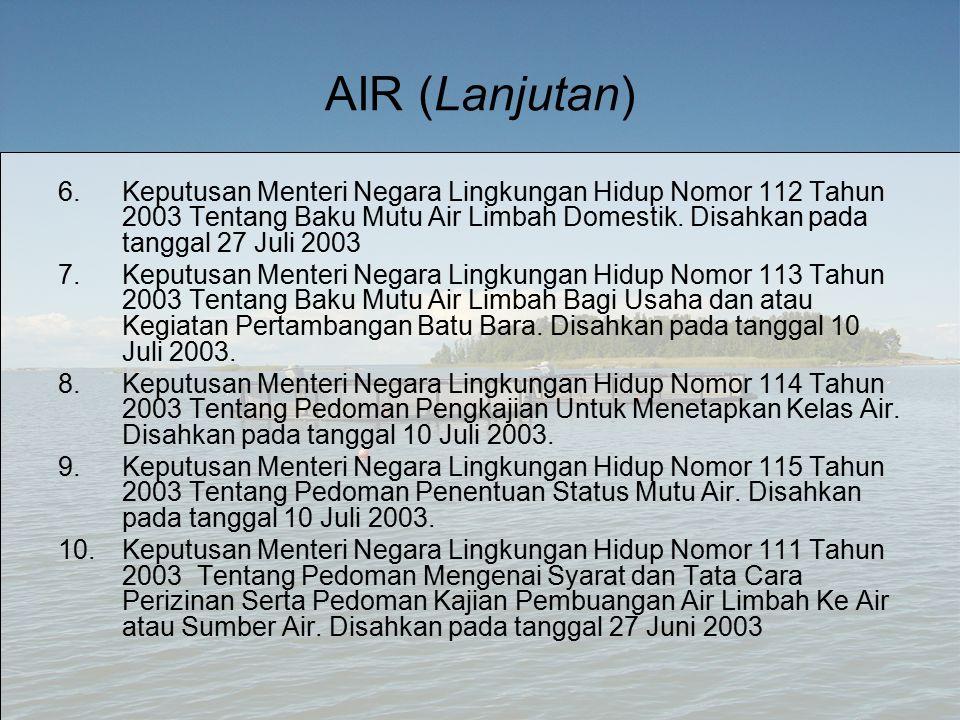 AIR (Lanjutan)