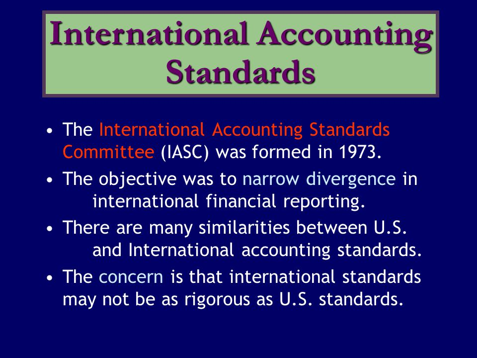 International Accounting Standards
