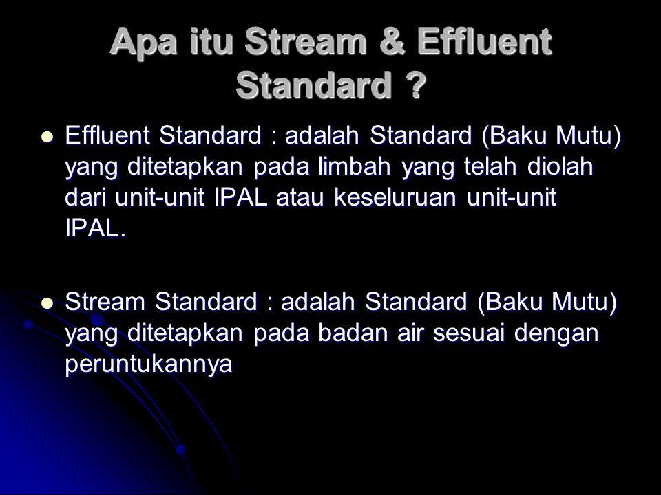 Apa itu Stream & Effluent Standard