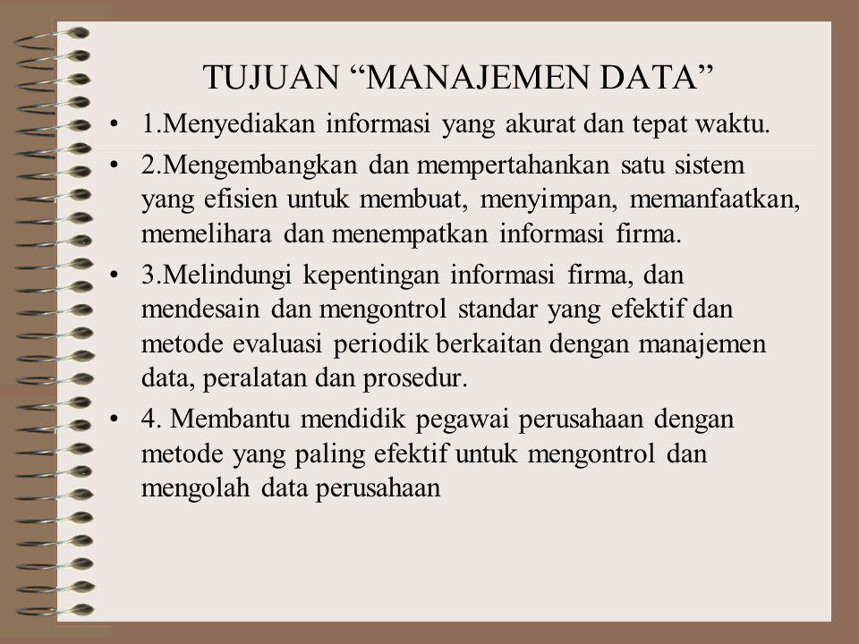 TUJUAN MANAJEMEN DATA