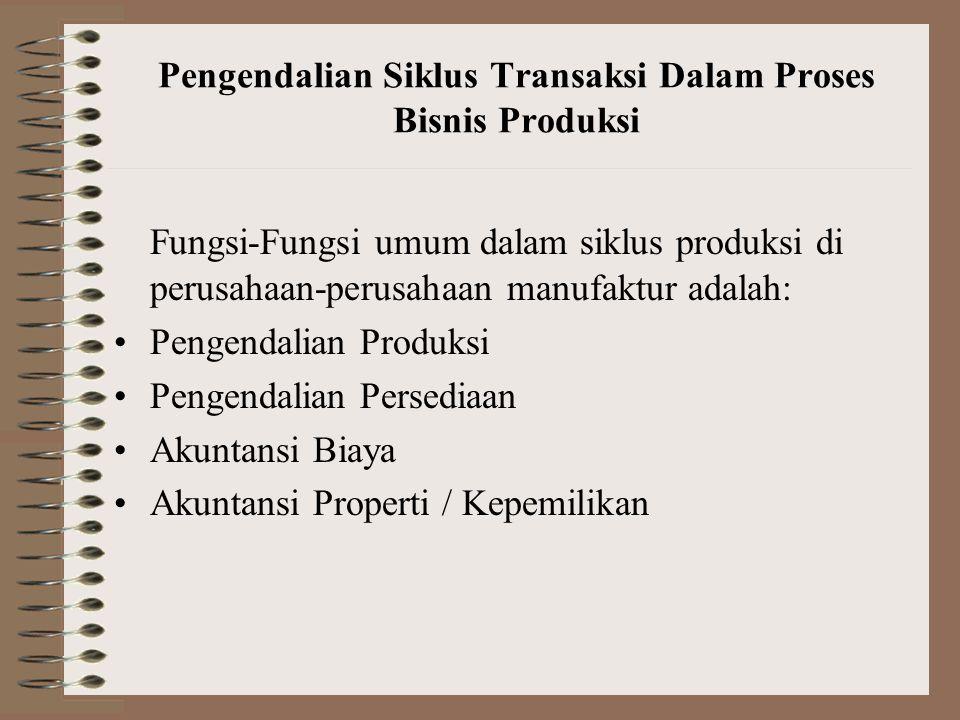 Pengendalian Siklus Transaksi Dalam Proses Bisnis Produksi