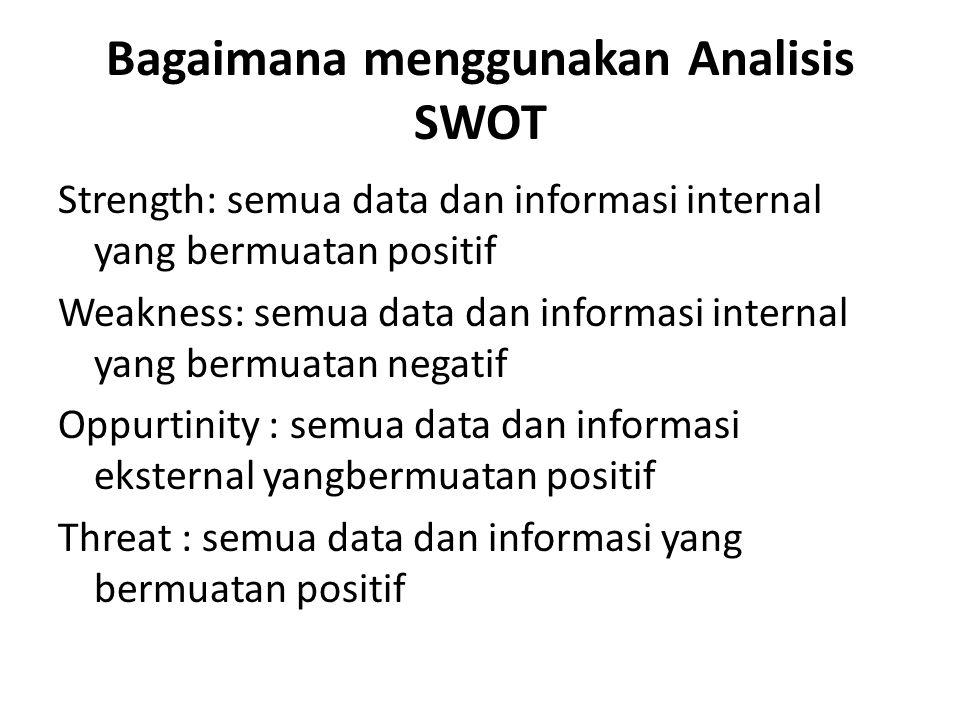 Bagaimana menggunakan Analisis SWOT