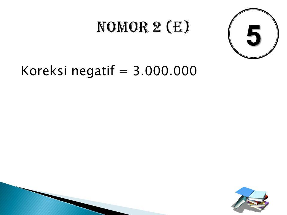 NOMOR 2 (E) 5 Koreksi negatif = 3.000.000