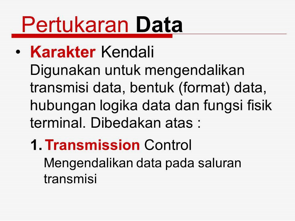 Pertukaran Data Karakter Kendali