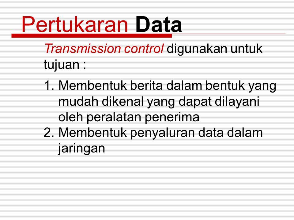 Pertukaran Data Transmission control digunakan untuk tujuan :