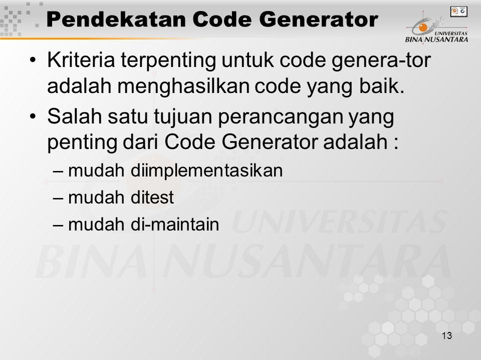 Pendekatan Code Generator