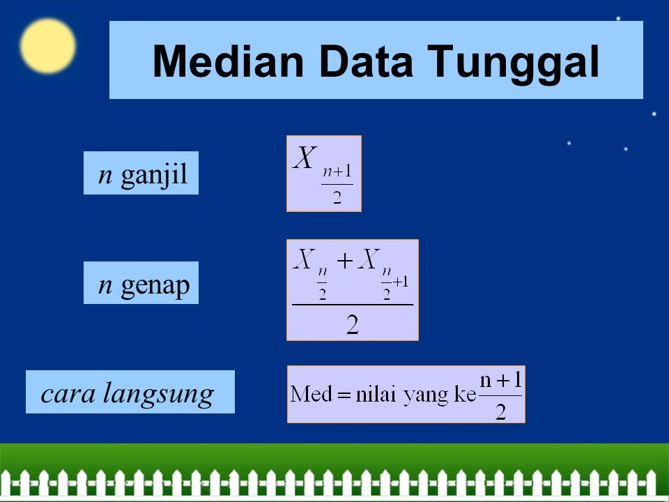 Median Data Tunggal n ganjil n genap cara langsung