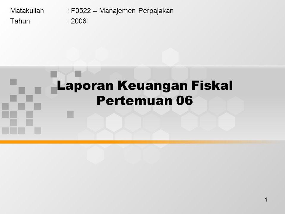 Laporan Keuangan Fiskal Pertemuan 06